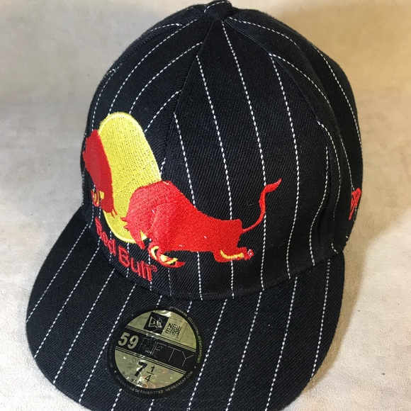 9a8f2bade2768 New Era Accessories | Red Bull Pinstripe Wool Fitted Hat 7 14 | Poshmark